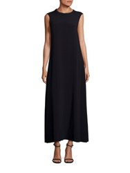 A Detacher Este Sleeveless Cady Maxi Dress Black