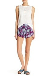 Billabong 'Beyond Sunrise' Floral Print Shorts Purple