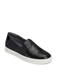 Aerosoles Milestone Leather Suede And Faux Leather Athletic City Sneakers Black