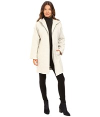 Atm Anthony Thomas Melillo Cocoon Hooded Zip Coat Stone Women's Coat White