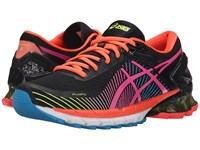 Asics Gel Kinsei 6 Black Hot Pink Flash Yellow Women's Running Shoes