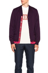 Sacai Cardigan Sweater In Purple