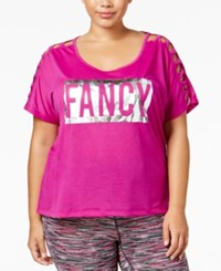 Material Girl Plus Size Metallic Graphic T Shirt Only At Macy's Femme Fushia
