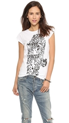 Happiness Tiger Tee White