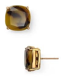 Kate Spade New York Small Square Stud Earrings Tortoise
