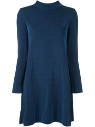 M Missoni Metallic Knit Dress Blue