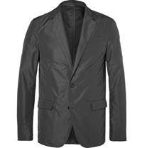 Jil Sander Grey Slim Fit Unstructured Shell Blazer Gray