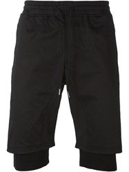 Stampd Layered Sweat Shorts Black