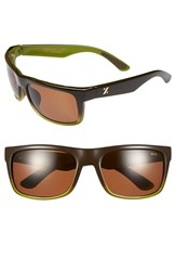 Women's Zeal Optics 'Essential' Polarized Plant Based Sunglasses Brown Olive Fade
