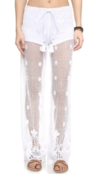 Miguelina Jenna Cover Up Pants Pure White