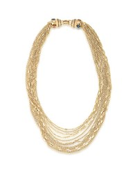 Carolee 12K Goldplated Multi Row Chain Link Necklace