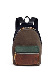 Alexander Wang 'Berkley' Polka Dot Print Calfhair Panelled Suede Backpack Multi Colour