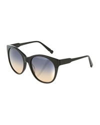 Jason Wu Petra Two Tone Oversized Cat Eye Sunglasses Black