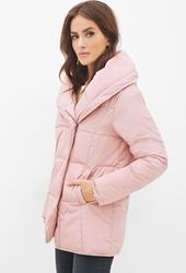 Forever 21 Zip Up Puffer Jacket