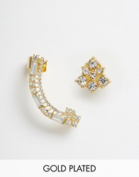 Johnny Loves Rosie Esme Ear Cuff And Stud Earrings Gold