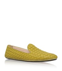 Bottega Veneta Interweave Leather Slippers Female Lime