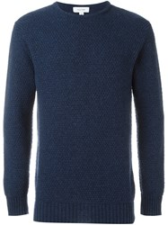 Soulland 'Ricketts' Honey Comb Sweater Blue