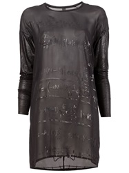 Ilaria Nistri Sheer Equation Print Tunic Black