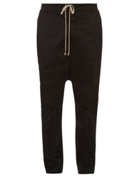 Rick Owens Dropped Crotch Cargo Trousers Black
