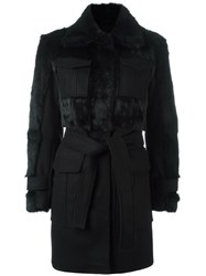Sonia Rykiel By Belted Coat Black
