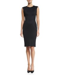 Zac Posen Sleeveless Jewel Neck Day Dress Black