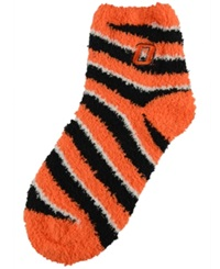 For Bare Feet Oklahoma State Cowboys Sleep Soft Candy Striped Socks Red