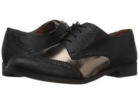 Cole Haan Jagger Wing Oxford Java Bronze Leather Women's Shoes Black