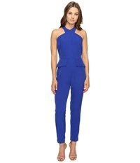 Adelyn Rae Halter Jumpsuit Electric Blue Women's Jumpsuit And Rompers One Piece
