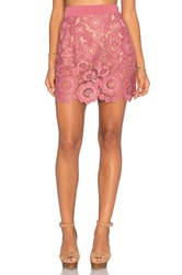 For Love And Lemons Sonya Mini Skirt Mauve