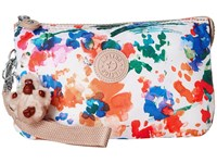 Kipling Creativity Xl Printed Pouch Floral Night Natural Clutch Handbags Multi