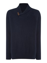 Army And Navy Pablo Shawl Neck Navy