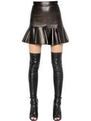 Givenchy Nappa Leather Mini Skirt Black