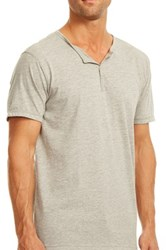 Papi Snap Button Henley Gray