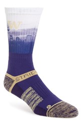 Men's Strideline 'Uw Husky City View' Strapped Fit 2.0 Socks