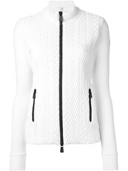 Moncler Grenoble Embossed Cable Effect Sport Jacket White