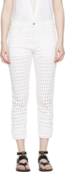 Isabel Marant White Eyelet Pierce Jeans