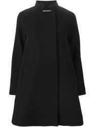 Gianluca Capannolo High Collar A Line Coat Black