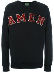 Amen Logo Patch Sweatshirt Black
