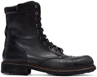 Diesel Black Leather Cassidy Boots