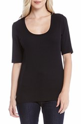 Women's Karen Kane Short Sleeve Rib Knit Tee