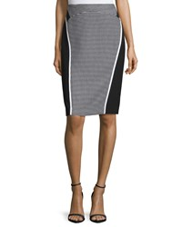 Lafayette 148 New York Sylvana Colorblock Pencil Skirt Black Multi Women's
