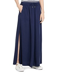 Lauren Ralph Lauren Drawstring Maxi Skirt Authentic Navy