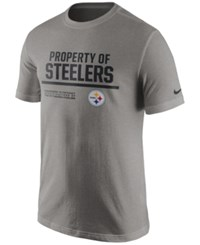 Nike Men's Pittsburgh Steelers Property Of T Shirt Heather Gray