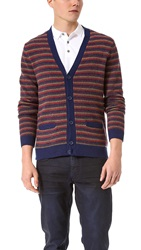 Marc By Marc Jacobs Finsbury Stripe Cardigan Charcoal Multi