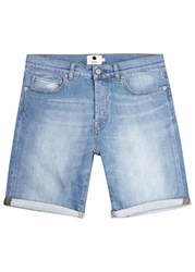 Nn.07 Light Blue Faded Denim Shorts