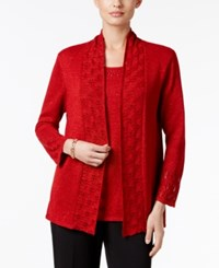 Alfred Dunner Studded Layered Look Sweater
