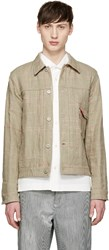 Junya Watanabe Beige Reversible Canvas Levi's Edition Jacket
