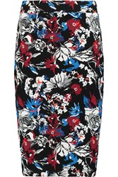 Markus Lupfer Jessica Printed Stretch Jersey Skirt Red