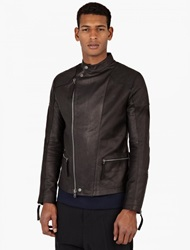 Helmut Lang Black Leather Biker Jacket