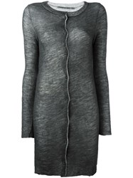 Transit Sheer Midi Cardigan Grey